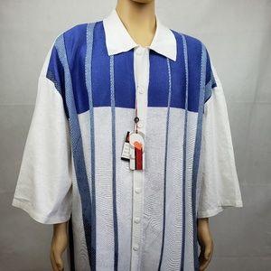 🔵5/$50🔵 SilverSilk Nine White Blue Striped 6X